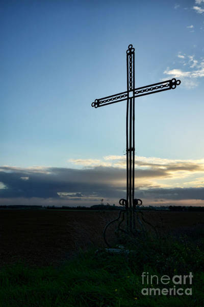 Photograph - A Cross In A Field by Olivier Le Queinec
