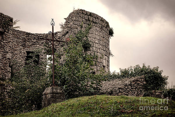 Wall Art - Photograph - A Cross In The Ruins by Olivier Le Queinec
