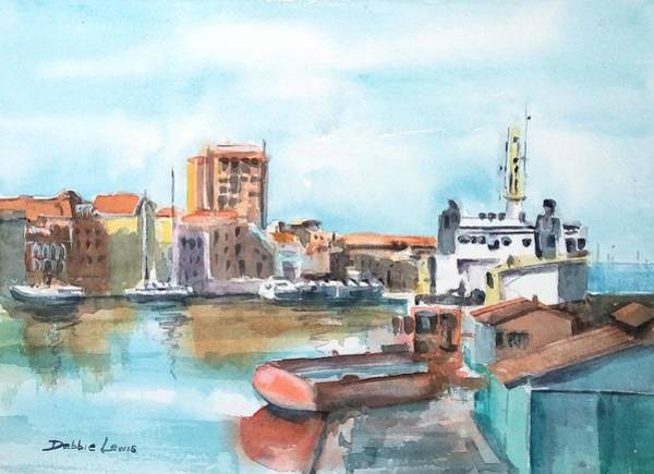 Painting - A Curacao Morning by Debbie Lewis