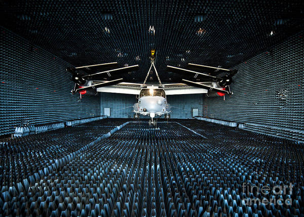 Mv-22 Photograph - A Cv-22 Osprey Hangs In The Anechoic by Stocktrek Images