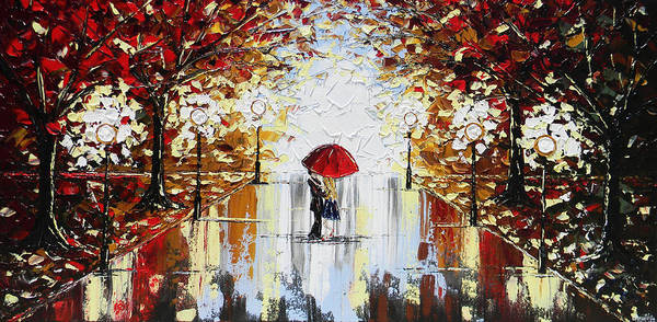 Wall Art - Painting - A Dance In The Rain by Christine Bell