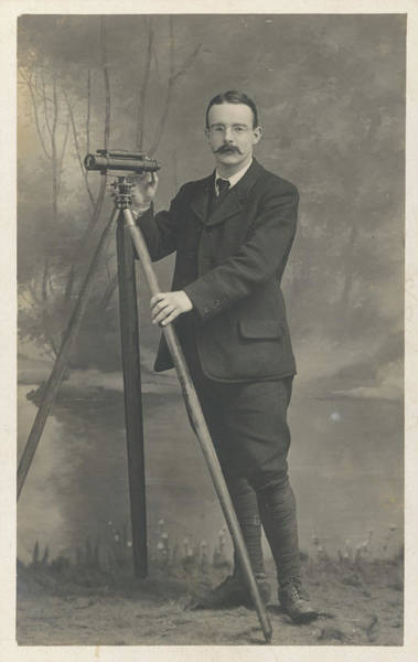 Wall Art - Photograph - A Dapper Surveyor And His Fine by Mary Evans Picture Library
