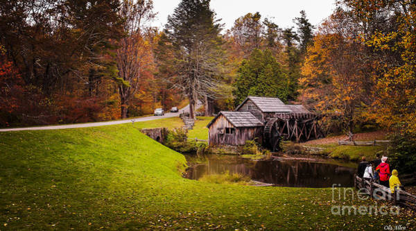 Photograph - A Day At Mabry Mill by Ola Allen