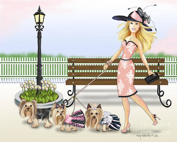 Digital Art - A Day At The Derby by Catia Lee