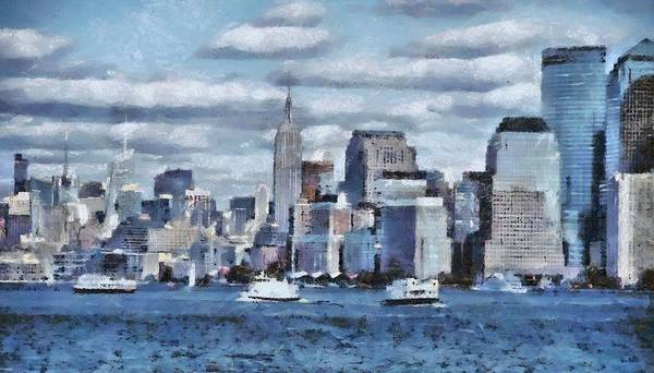 Battery D Wall Art - Painting - A Day In The Big City by Dan Sproul