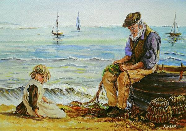 Wall Art - Painting - A Day With Grandad by Andrew Read