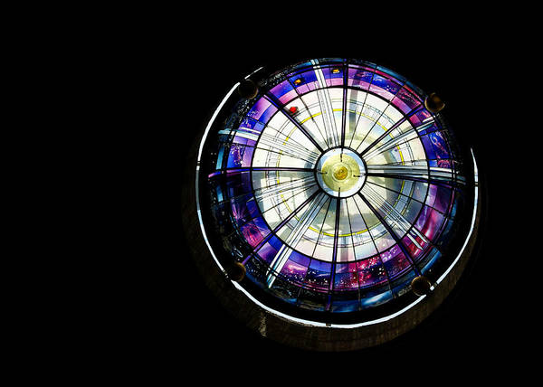 Photograph - A Dazzling Stained Glass Gem Emerging From The Darkness by Georgia Mizuleva