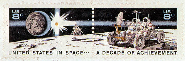 Stamp Collecting Photograph - A Decade Of Achievement, U.s. Postage by Science Source