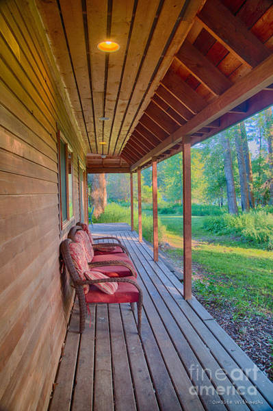 Digital Art - A Deck By The Methow River At Cottonwood Cottage by Omaste Witkowski