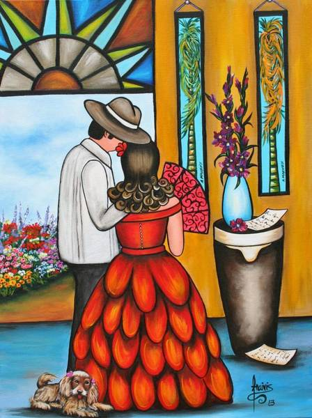 Wall Art - Painting - A Declaration Of Love by Annie Maxwell
