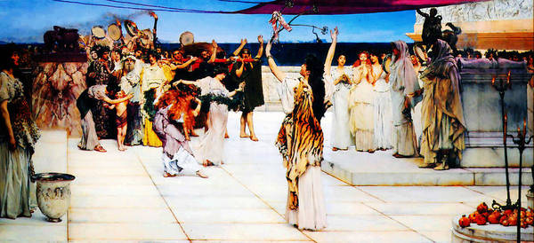 Dedication Painting - A Dedication To Bacchus By Sir Lawrence Alma Tadema by MotionAge Designs
