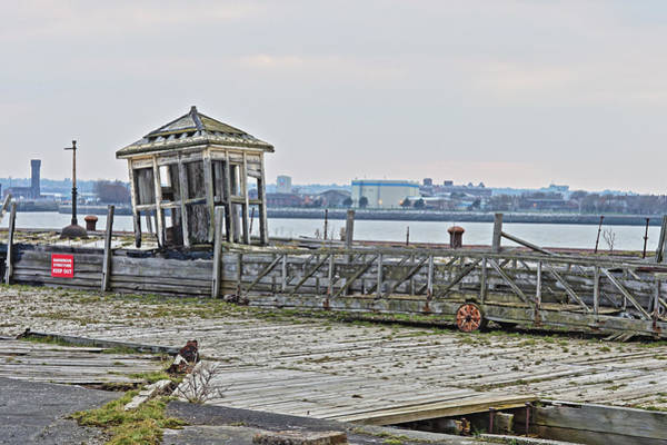 Photograph - A Derelict Kiosk On A Disused Quay In Liverpool by Tony Mills