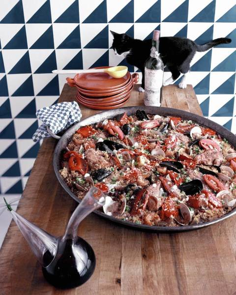 Cats Photograph - A Dish Of Paella by Richard Rutledge