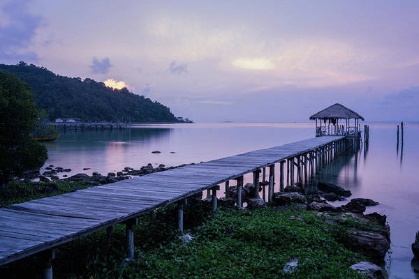Wall Art - Photograph - A Dock On An Island In Cambodias by Hannah Reyes