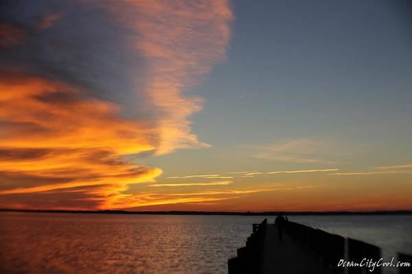 Photograph - A Dock Walking Sunset by Robert Banach