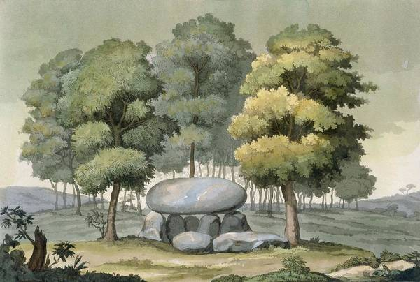 Burial Wall Art - Drawing - A Dolmen-type Passage Grave Of The Gauls by G. Bramati