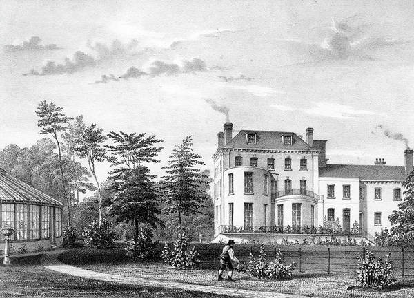 Villa Drawing - A Domestic Villa At Beckenham,  Kent - by Mary Evans Picture Library