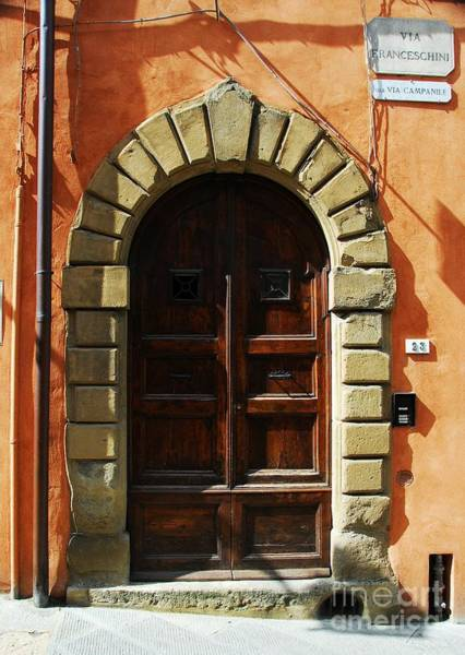 Photograph - A Door In Tuscany by Mel Steinhauer