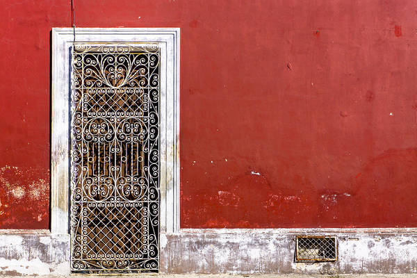Photograph - A Door To Remember - Red And Rustic Mexico by Mark Tisdale