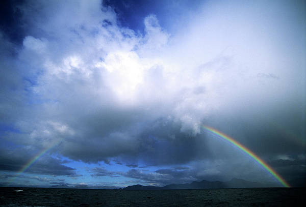 Gulf Of Alaska Photograph - A Double Ended Rainbow Stretches by Dan Rafla