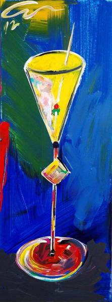 Interior Wall Art - Painting - A Drink Called Loneliness by Mac Worthington