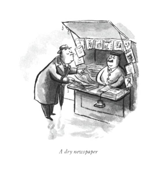 Dry Drawing - A Dry Newspaper by William Steig