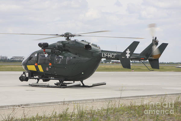 Utility Aircraft Photograph - A Eurocopter Ec145 Helicopter by Timm Ziegenthaler