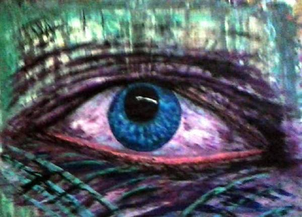 Michael Ferguson Wall Art - Painting - A Eye by Michael Ferguson