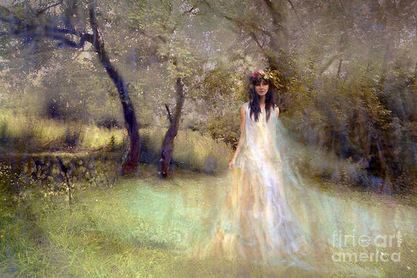 Wall Art - Photograph - A Fairy In The Orchard by Angel Ciesniarska