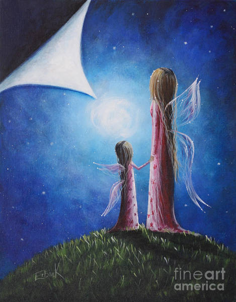 Wall Art - Painting - A Fairy's Child By Shawna Erback by Erback Art
