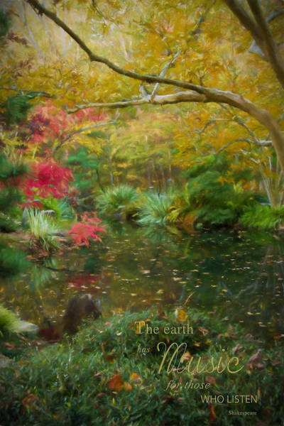 A Fall Afternoon With Message Art Print