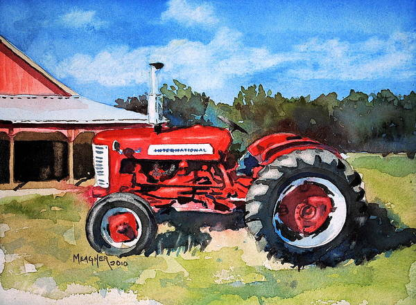 Vintage Tractor Painting - A Family Heirloom by Spencer Meagher