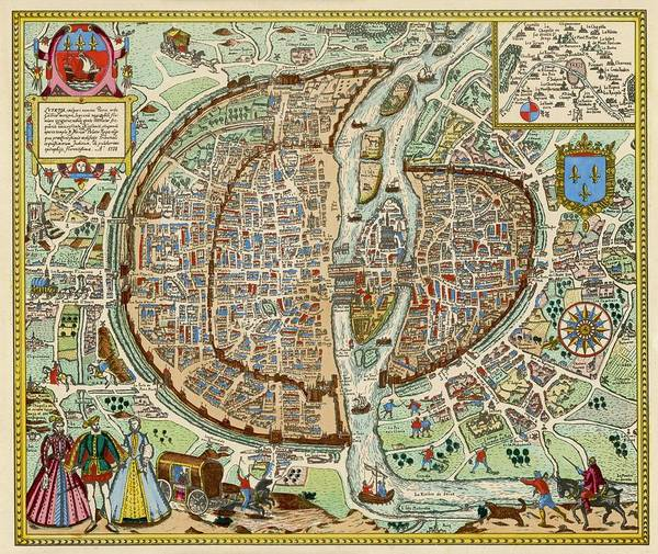 Actually Drawing - A Fascinating Plan Of The  City by Mary Evans Picture Library