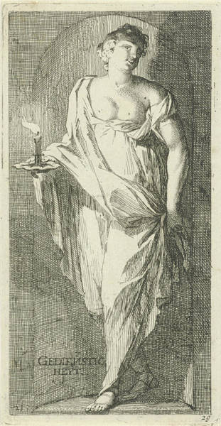 Duty Drawing - A Female Figure As The Personification Of Obsequiousness by Arnold Houbraken