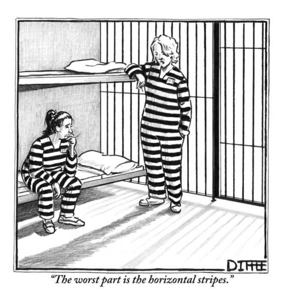 Vanity Drawing - A Female Prisoner by Matthew Diffee