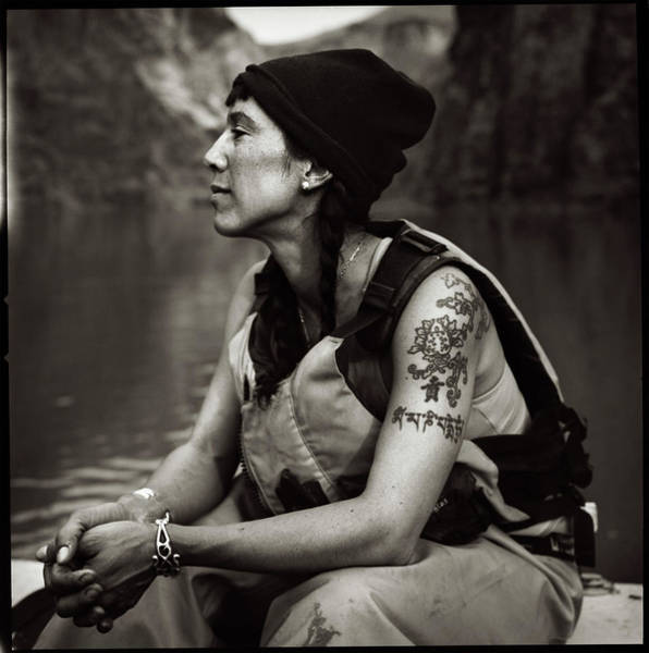 George Canyon Photograph - A Female River Runner Contemplates by Kyle George