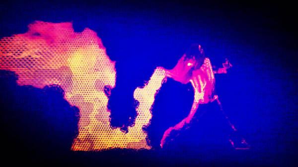 Mixed Media - A Fire In Ferguson by Michelle Dallocchio