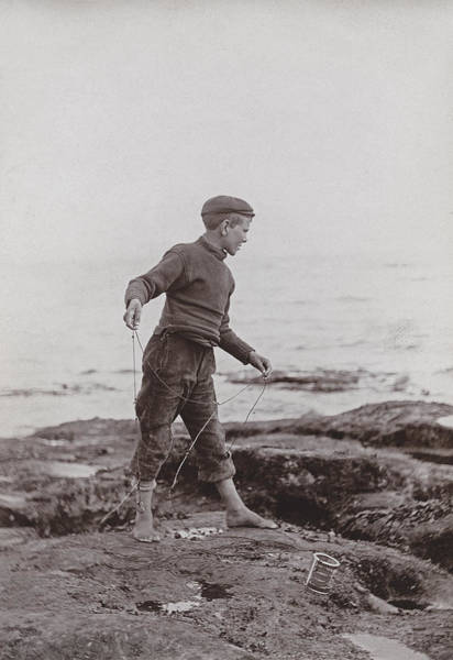Fishing Line Photograph - A Fisher Laddie by James Patrck