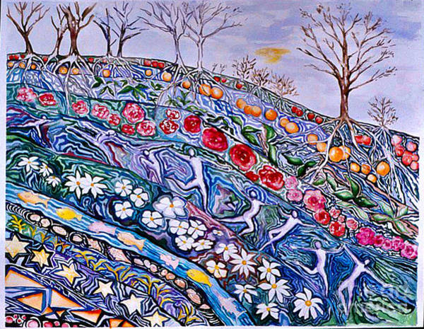 Painting - A Flourishing Beneath by Nancy Wait
