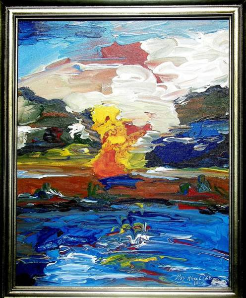 Painting - A Fluid Landscape by Ray Khalife