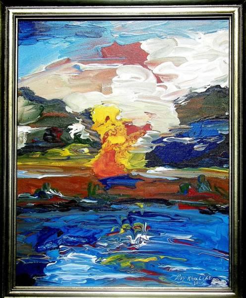A Fluid Landscape Art Print