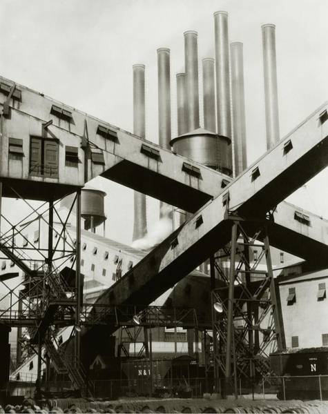 Urban Scene Photograph - A Ford Automobile Factory by Charles Sheeler
