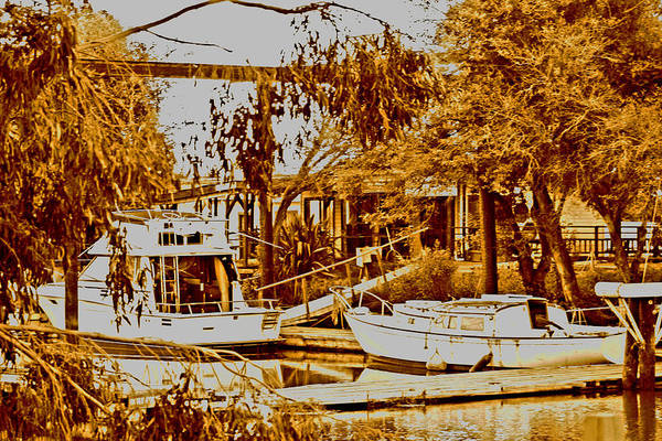 Digital Art - A Forgotten Marina by Joseph Coulombe