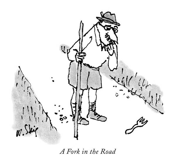 Fork Drawing - A Fork In The Road by William Steig