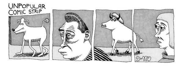 November 11th Drawing - A Four-paneled Comic Strip With A  Person Facing by J.C.  Duffy