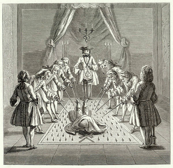 Wall Art - Drawing - A French Lodge Admits A Master  Who by Mary Evans Picture Library