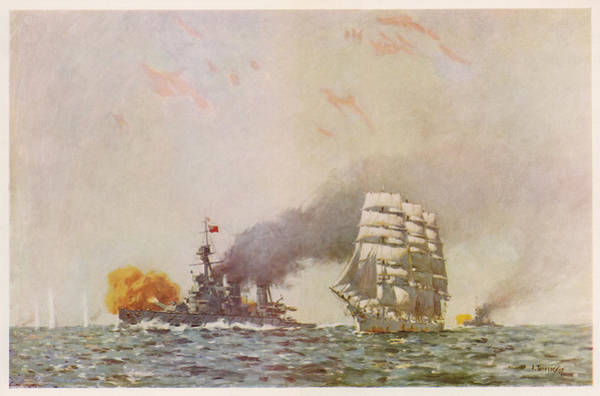 Become One Wall Art - Drawing - A French Sailing Ship Becomes by Mary Evans Picture Library