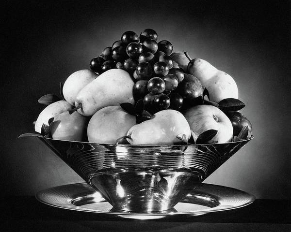Grape Photograph - A Fruit Bowl by Peter Nyholm