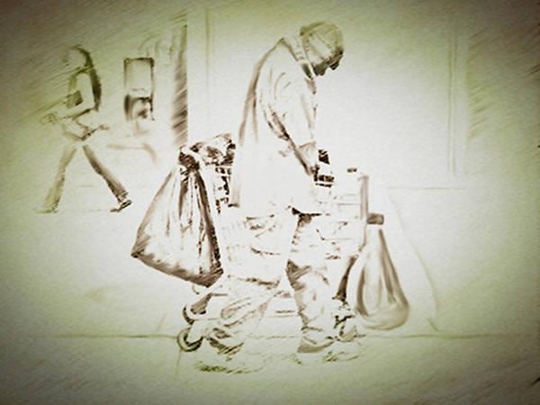 Drawing - A Full Cart by Dennis Buckman