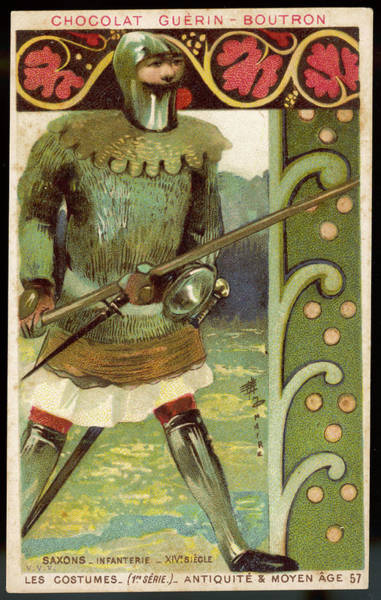 Wall Art - Drawing - A Fully Armed Saxon  Infantryman by Mary Evans Picture Library